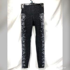 "LuLuLemon Athletica leggings black w/ ""lace"" sides"